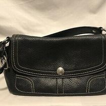 Medium Size Coach Black Leather Purse Photo