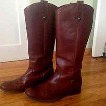 Melissa Button Frye Boots Size 8.5 Cognac Photo