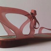 Melissa Jason Wu 'Artemis' Light Pink Jelly Flats Women Sandals Shoes Bnib Photo