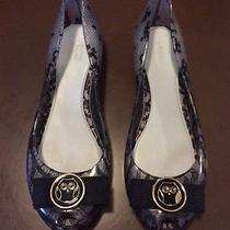 Melissa  Jason Wu Ultragirl Black Lace Jelly Flats Size W 9 Worn Once Excellent Photo
