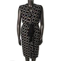 Melissa Masse New Black Printed Sleeveless Wear to Work Dress Plus 0x Bhfo Photo