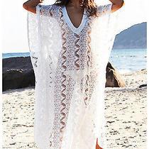 Melissa Odabash Camilla Crocheted Maxi Kaftan Dress Photo