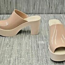Melissa Open Toe Platform Mule Women's Size 7m 38eu Blush Photo
