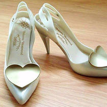 Melissa  Vivienne Westwood Classic Heel Heart Wedding Shoes Vegan Us 9 Eur 40 Photo