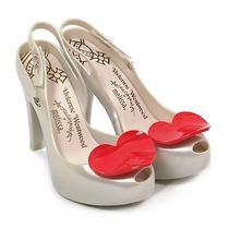 Melissa X Vivienne Westwood Women's Ultragirl Heel Pearl / Red Heart-Pearl-5 Photo