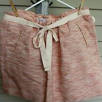 Melon and Cream Skirt by Fossil Cotton Raffia and Linen Fabric Size L Photo