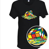 Melting Rubik's Cube T-Shirt - as Seen on the Big Bang Theory Photo