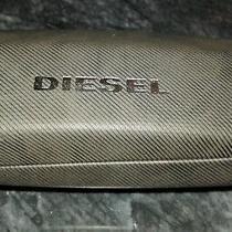 Men Accessory Eyewear Diesel Grayish Brown Leather Trademark Glasses Case Photo