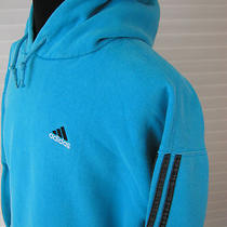  Men Adidas Hoodie Xl Aqua All Cotton Long Sleeve Sweatshirt Photo
