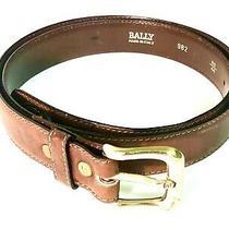 Men Bally Belt 44 and  1 Mens Faux Ostrich Belt 46 / Lot of 2 - 5 Star Shape Photo