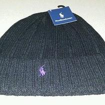 Men Black Ralph Lauren Lambs Wool Beanie    Photo
