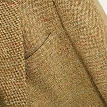 Men Brooks Brothers Blazer Brown Jacket Wool Silk Linen Eu52r Uk/us42r L Qda850 Photo