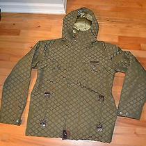 Men Burton Dryride Hooded Jacket Excellent Condition Green Medium Free Shipping Photo