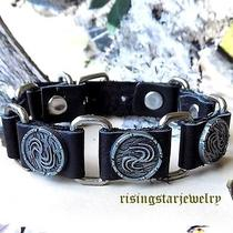 Men Cool Element of Fire Motorcycle Rider Surfer Character Leather Bracelet  Photo