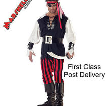 Men Fancy Dress Costume Cut Throat Pirate Movie Book Outfit Size Xll 40