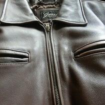Men Genuine Leather Dark Brown Jacket Guess Legendary Classics Size S Photo