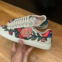 Men Gucci Ace Sneakers Size 8.5-9 Us Floral Tiger Italy Monogram Marmont Leather Photo