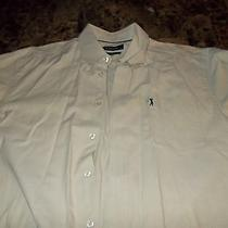 Men K. Stevens Oxford Shirt Long Sleeve Button Down Dress Shirt Size Large  Photo