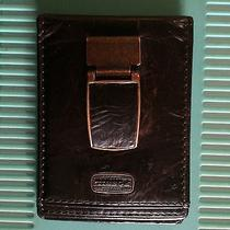 Men' Leather Wallet Fossil Money Clip Photo