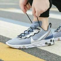 Men Nike React Element 55 Indigo Fog White Navy Running Shoe Bq6166-402 Size 10 Photo