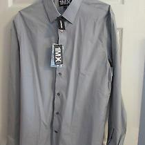 Men's 1 Mx Modern Fit Long Sleeve Dress Shirt Grey Size L Nwt Retails 69 Photo