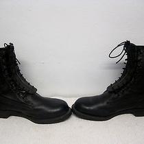 Men's 1987 Addison Leather Biltrite Military Combat Grunge Work Boots Size 9 Ee Photo