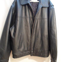 Men's 2xl Black Leather Insulated Jacket by St John's Bay Photo