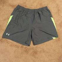 Mens 2xl Under Armour Gray Reflective Running Shorts. Inseam 7. Photo
