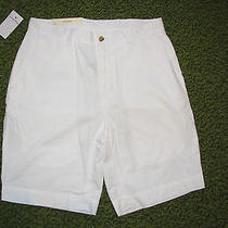 Men's 69. Polo-Ralph Lauren White Shorts (33)  Flat Front  Photo