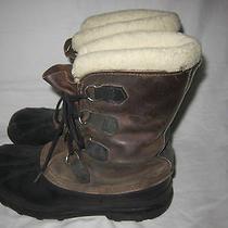Men's 9 Sorel Bighorn Waterproof Winter Leather Rubber Insulated Rain Boots Photo