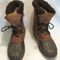 Men's 9 Sorel Waterproof Winter Leather Rubber Insulated Rain Boots Photo