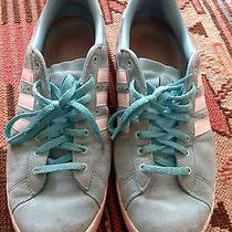Men's 9 Suede Green Ice Blue Suede Adidas Used Sneakers Photo