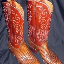 Mens 9d Cowboy Western Leather Lucchese San Antonio Boots Photo