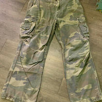 Men's Abercrombie and Fitch Heavy Weight Ccamouflage Cargo Pants Sz 36 R X 32 Photo
