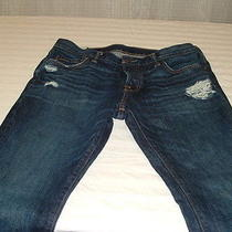 Men's Abercrombie and Fitch Jeans Distressed Destroyed Sz 36 X 32 Skinny Photo