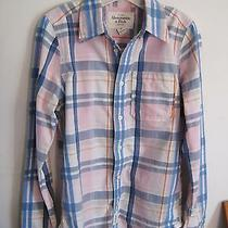 Men's Abercrombie & Fitch a & F Muscle Plaids/check Shirt S Free Shipping  Photo