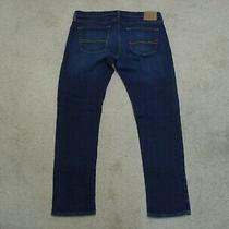Men's Abercrombie Fitch a&f Stretch Athletic Slim Blue Jeans Size 34 X 32 Photo