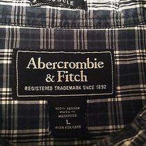 Men's Abercrombie & Fitch (L) Short Sleeve Multi-Color Plaid & Checks Shirt Photo