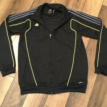 Mens Adidas Climalite Predator Jacket. Black Gray W Yellow Piping/medium Photo