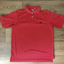 Mens Adidas Climalite Red Golf Polo Size Large L Excellent Used Condition Sport Photo