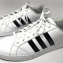 Men's Adidas Neo Cloudfoam Baseline Us 8 White Sneakers Three Stripe Photo