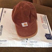 Men's Adult Carhartt Corduroy Cap / Canvas Trim Hat Ball Cap One Size Fits All Photo