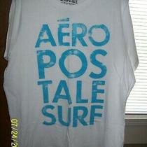 Men's Aeropostale' 1987 Surf Ss White Graphic T-Shirt  Xl Photo