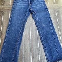 Mens Aeropostale Blue Jeans Sz 34x32 Slim Straight Mid Wash Fade Vintage Photo