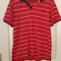 Men's Aeropostale Red White & Blue Polo Shirt - Size L Photo