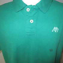 Men's Aeropostale Solid Pique A87 Polo  M  Green  Awesome Price Photo
