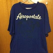 Men's Aeropostale T-Shirt Size Xl Blue Royal Christmas Gift Photo
