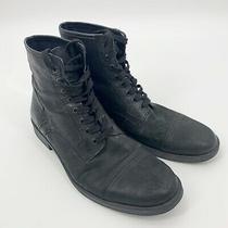 Men's Aldo Black Lace Up Combat Boots Size 42 Us 9 Photo