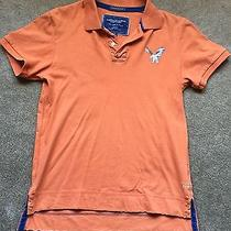 Men's American Eagle Orange Polo S Photo