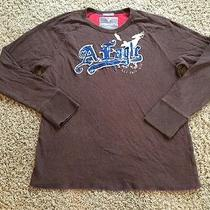 Men's American Eagle Vintage Fit Xl Long Sleeve Sweat Shirt Guc Photo